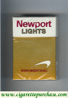 Discount Newport Non Menthol Lights cigarettes hard box