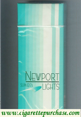 Discount Newport Slim Lights 120s cigarettes hard box