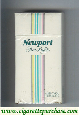 Discount Newport Slim Lights Menthol hard box 100s cigarettes