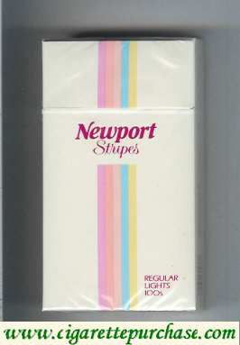 Discount Newport Stripes Regular Lights 100s cigarettes hard box