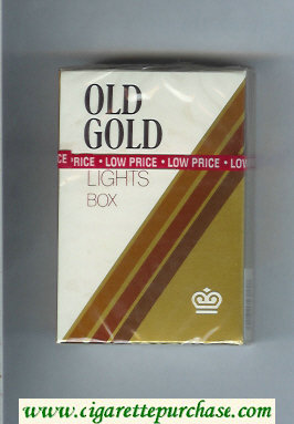 Discount Old Gold Lights Box cigarettes hard box