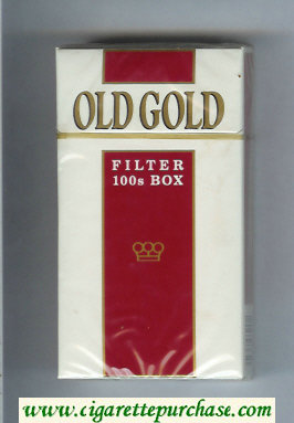 Discount Old Gold Filter 100s Box cigarettes hard box