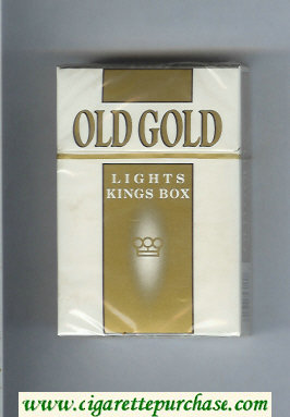 Discount Old Gold Lights Kings Box cigarettes hard box