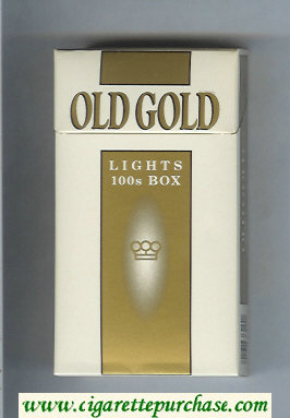 Discount Old Gold Lights 100s Box cigarettes hard box