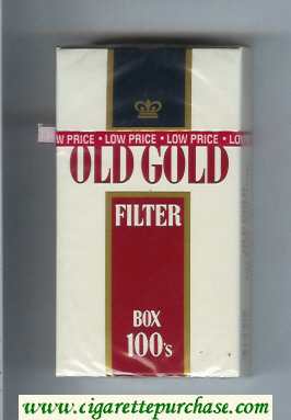 Discount Old Gold Filter Box 100s cigarettes hard box
