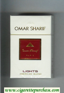 Omar Sharif Lights cigarettes hard box