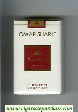 Omar Sharif Lights cigarettes soft box