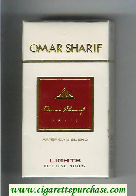 Omar Sharif Lights Deluxe 100s cigarettes hard box