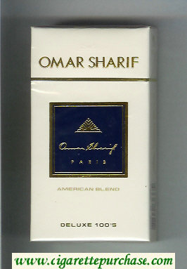 Omar Sharif Deluxe 100s cigarettes hard box