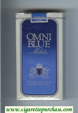 Omni 'O' Blue Milds 100s cigarettes soft box