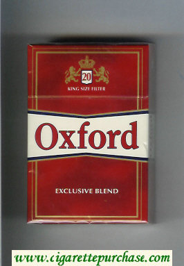 Oxford Exclusive Blend cigarettes hard box