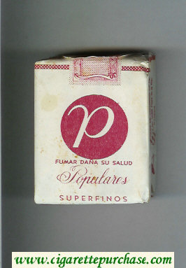 P Populares Superfinos white and red cigarettes soft box