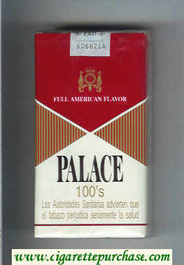 Palace 100s Full American Flavor cigarettes soft box