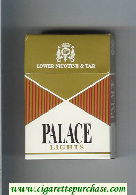 Palace Lights gold and brown and white cigarettes hard box