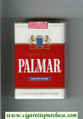 Palmar Export Filter Virginia Especial cigarettes soft box