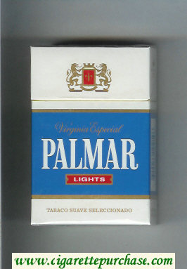 Palmar Lights Virginia Especial cigarettes hard box