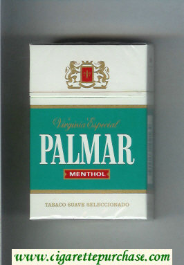 Palmar Menthol Virginia Especial cigarettes hard box