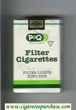 PandQ Filter Cigarettes Filter Lights King Size Cigarettes soft box