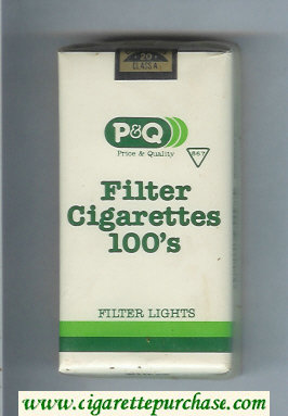 PandQ Filter Cigarettes Filter Lights 100s Cigarettes soft box