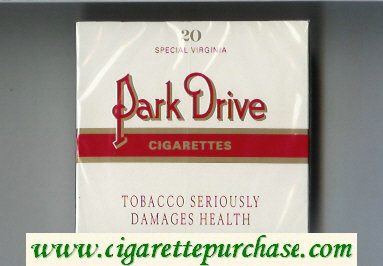 Park Drive Cigarettes Special Virginia wide flat hard box