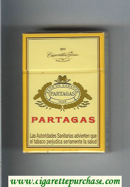 Partagas 1845 white cigarettes hard box