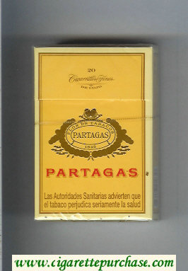 Partagas 1845 yellow cigarettes hard box