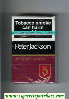 Discount Peter Jackson Filter 20 cigarettes King Size hard box