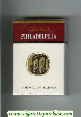Discount Philadelphia American Blend white and brown cigarettes hard box