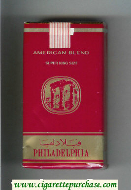 Discount Philadelphia American Blend 100s red and gold cigarettes soft box