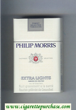 Discount Philip Morris Extra Lights American Blend cigarettes hard box