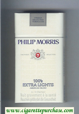 Discount Philip Morris 100s Extra Lights American Blend cigarettes hard box