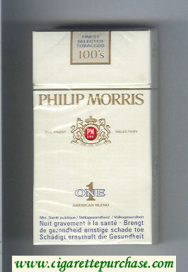 Discount Philip Morris One 1 American Blend 100s cigarettes hard box