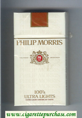 Discount Philip Morris 100s Ultra Lights Ultra Light American Taste cigarettes hard box