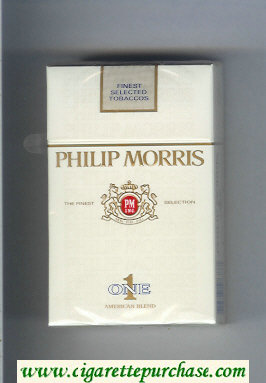 Discount Philip Morris One 1 American Blend cigarettes hard box