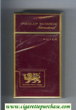 Discount Philip Morris International 100s red cigarettes hard box