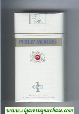 Discount Philip Morris One 1 Charcoal Filter 100s cigarettes soft box