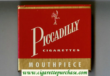 Discount Piccadilly Cigarettes Mouthpiece wide flat hard box