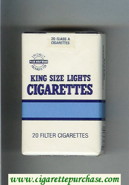 Plain Wrap Brand Lights cigarettes soft box