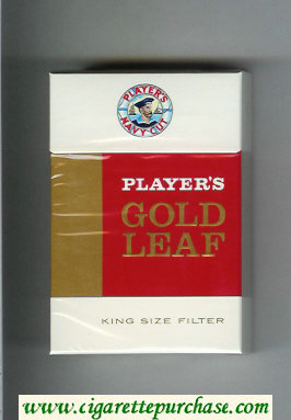 Player's Navy Cut Gold Leaf Navy Cut white and red and gold cigarettes hard box