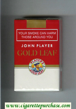 Player's Gold Leaf John Player red and white cigarettes soft box