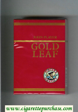Player's Gold Leaf Quality John Player red cigarettes hard box