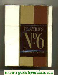 Player's No 6 Finest Virginia cigarettes hard box