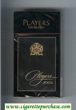 Players Low Tar Filter 100s cigarettes hard box
