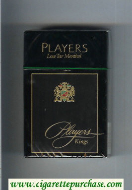 Players Low Tar Menthol cigarettes hard box