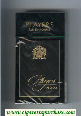 Players Low Tar Menthol 100s cigarettes hard box