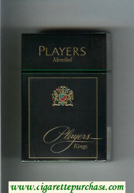 Players Menthol cigarettes hard box