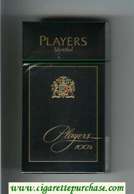 Players Menthol 100s cigarettes hard box