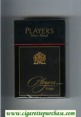 Players Select Blend cigarettes hard box