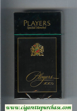 Players Special Menthol 100s cigarettes hard box