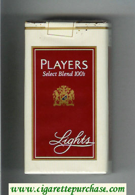 Players Select Blend Lights 100s cigarettes soft box